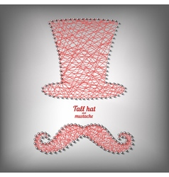 Tall hat and mustache vector image