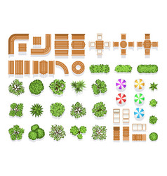 top view landscaping architecture city park plan vector image vector image