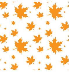 Yellow maple leaf autumn seamless pattern vector