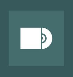 cd icon simple vector image
