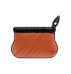 Cute purse with zipper to save cash money vector