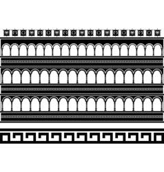 fantasy colosseum stencil vector image vector image
