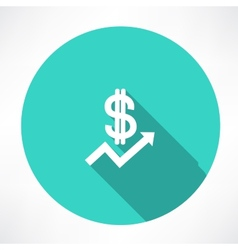 financial report with dollar icon vector image vector image