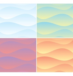 Set of Soft Waving Backgrounds Graphics vector image