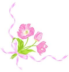 Tulips bouquet vector image