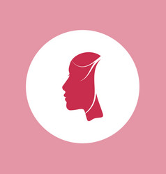 woman beautiful face profile icon vector image vector image