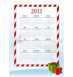 American calendar 2011 vector image vector image