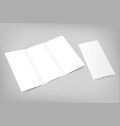 blank tri fold flyer with cover on gray vector image vector image