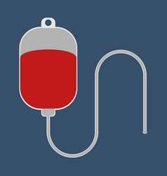 dropper with blood medical object flat icon vector image