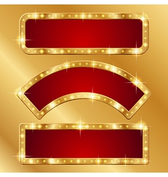 Flash banner gold vector image vector image