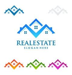 real estate logo design realty logo vector image
