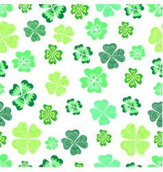 seamless green clover leaf decorative background vector image