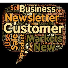 Ways to use customer sales newsletters text vector