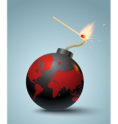 bomb and match new vector image