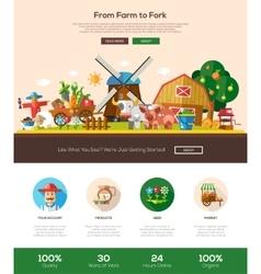 Farmery website header banner with webdesign vector image