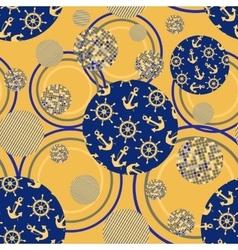 Marine ornament geometric vector image