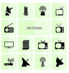 14 antenna icons vector