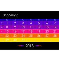 2013 December vector image