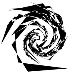 Abstract artistic black and white geometric vector