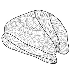 Adult coloring bookpage a cute christmas cap vector