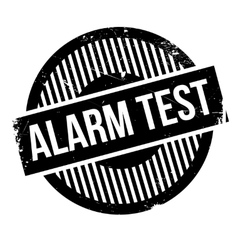 Alarm Test rubber stamp vector
