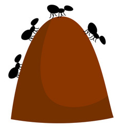 Anthill on white background vector