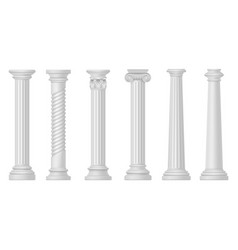 antique white columns greek and roman vector image