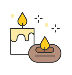 aroma candle and aroma lamp vector image
