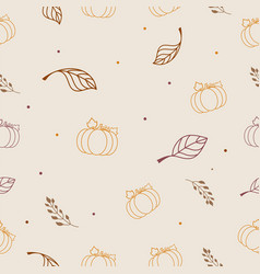autumn seamless wallpaper wrapping paper design vector image
