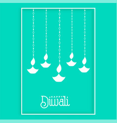 Awesome hanging diya design background vector