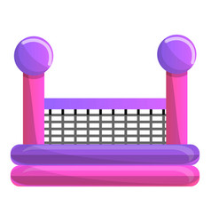 baby trampoline icon cartoon style vector image