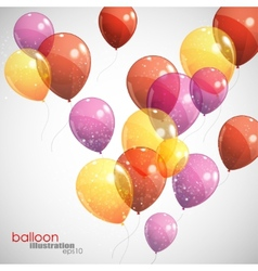 Background with multicolored flying balloons vector
