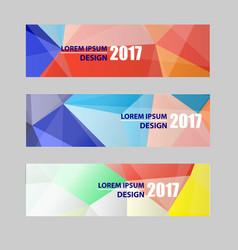 Banners modern website header set abstract vector