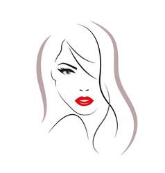 Beautiful woman face logo vector