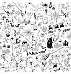 Black and white background with sketch elements vector