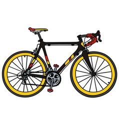 Black road racing bike vector image
