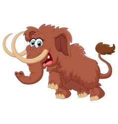Cartoon cute mammoth vector image