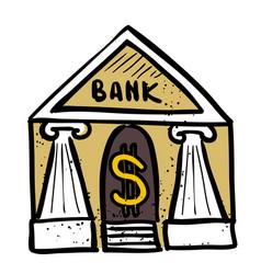Cartoon image bank icon government symbol vector
