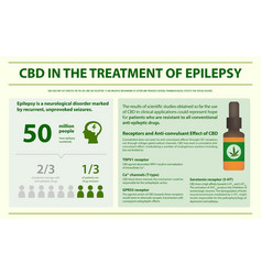 Cbd in treament epilepsy infographic vector
