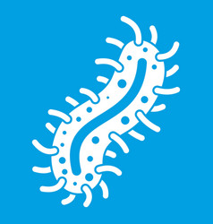 cell of dangerous virus icon white vector image