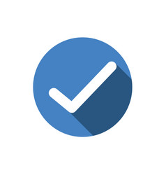 check icon approve chekmark vector image