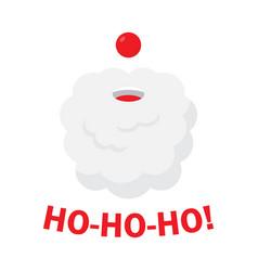 christmas background with santa claus ho ho ho vector image