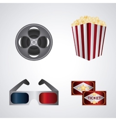 Cinema design Movie concept Flat vector image