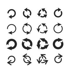 circle arrow icon round arrows circular pointing vector image