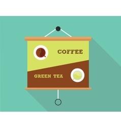 Coffee vs green tea vector