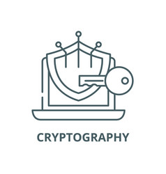 Cryptography line icon linear concept vector