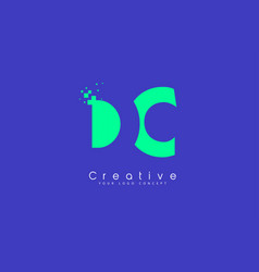 Dc letter logo design with negative space concept vector