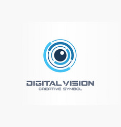 digital vision creative symbol concept eye iris vector image