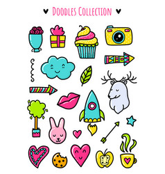 Doodle elements vector