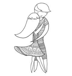 doubles brazilian dance woman and man dancing zen vector image
